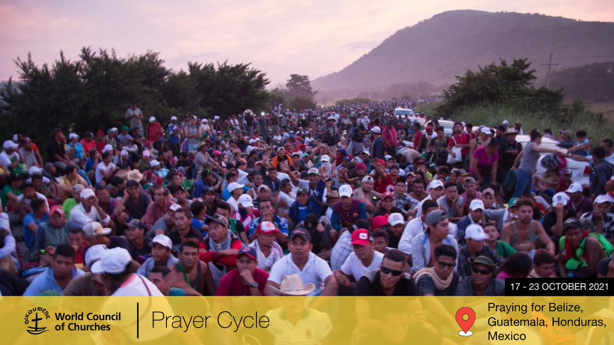 test Twitter Media - 🙏 Pray with the #WorldCouncilofChurches: This week, the Ecumenical Prayer Cycle calls us to pray with and for the people and churches in #Belize, #Guatemala, #Honduras & #Mexico  Intercessions and prayers: https://t.co/H9Q2mOAi9Y @WCCprayers   📷 by Sean Hawkey. https://t.co/makoFsNPoZ