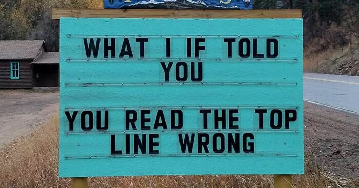 """""""…….meanwhile in the town of MindBlown……"""" 😁  #mondaymotivation #MondayFunday #Joke #Signs"""