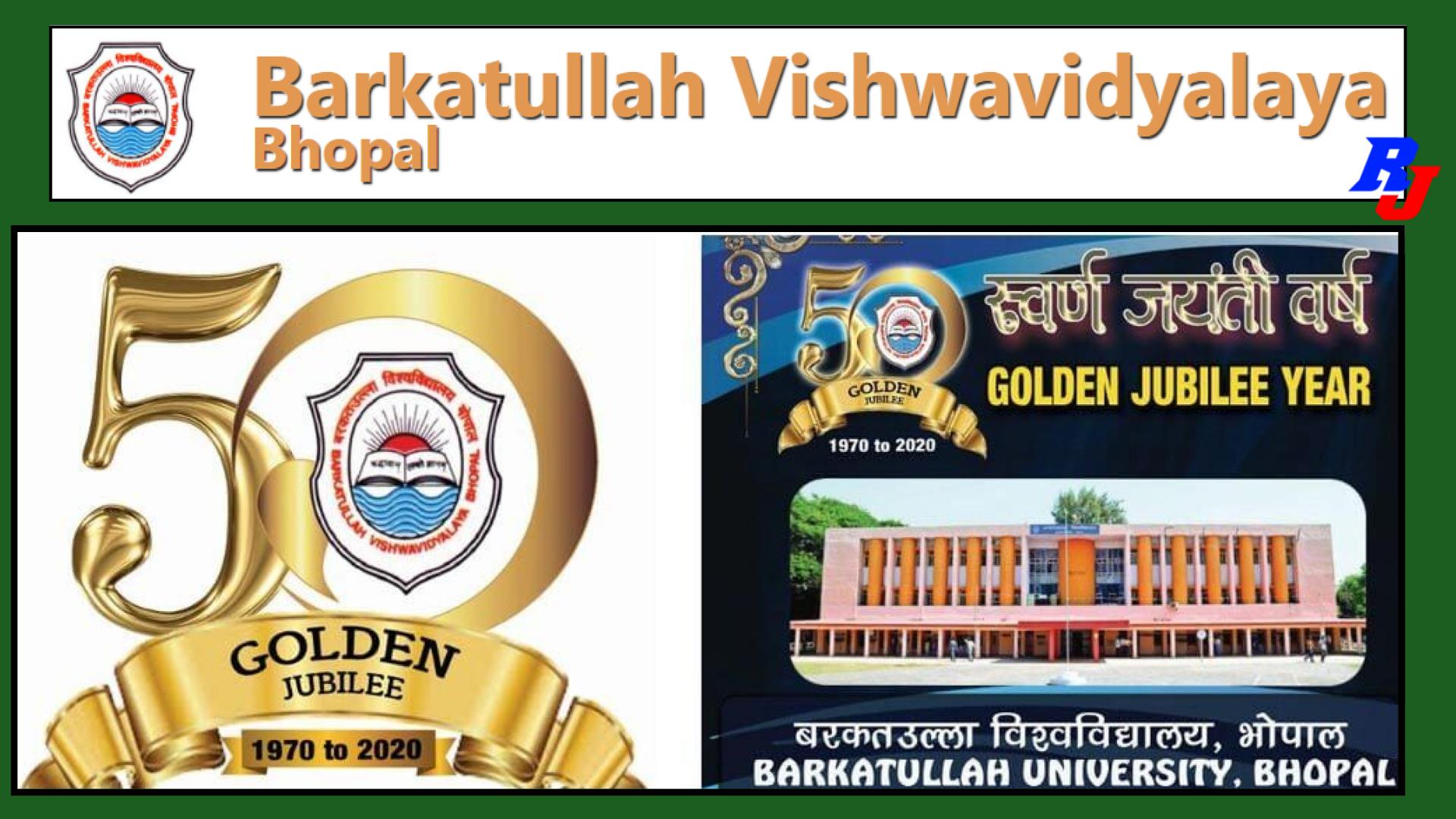Teaching Posts (Backlog) at Barkatullah Vishwavidyalaya, Bhopal, India