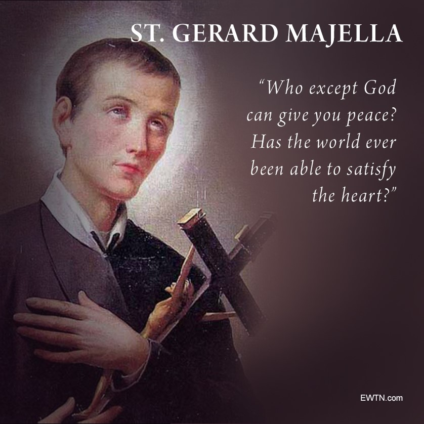 Payers for everyone at @Ecole_StGerard on this feast of your namesake and patron. #SaintOfTheDay