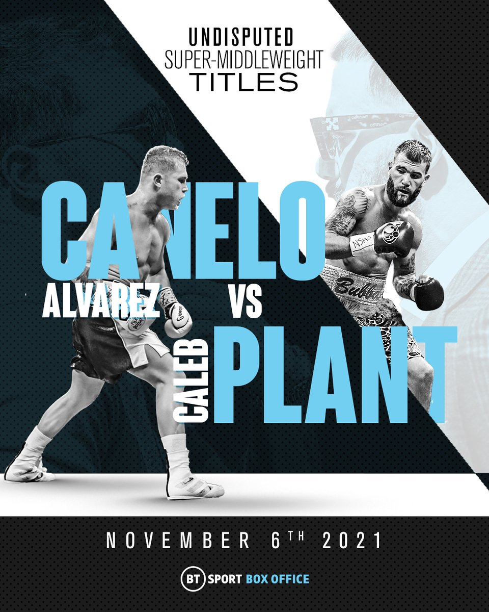 Three weeks to go until the first-ever undisputed super-middleweight champion is crowned 🔥 🏆 @Canelo 🆚 @SweetHandsPlant 🏆 #CaneloPlant | November 6 | BT Sport Box Office