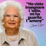 Image for the Tweet beginning: Forza, coraggio, tolleranza, libertà. #LilianaSegre