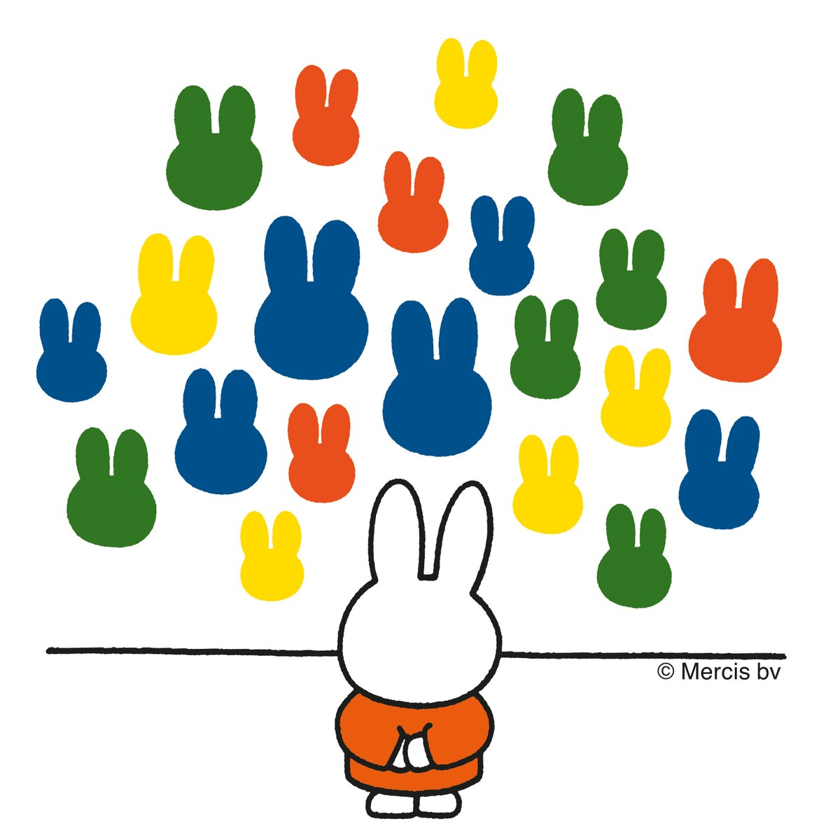 Although Miffy doesn't know a lot about art, she likes how it makes her feel. How does art make you feel? 🖼