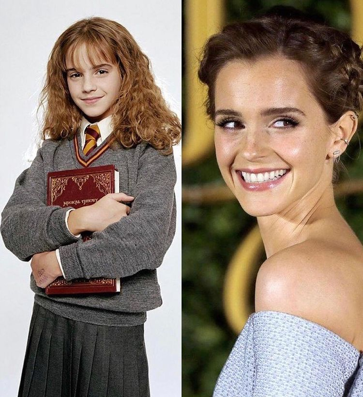📌 'Harry Potter'ın öncesi ve sonrası kadrosu..  @hsntarih   #tarih #history #film #sinema #EmmaWatson #HarryPotter