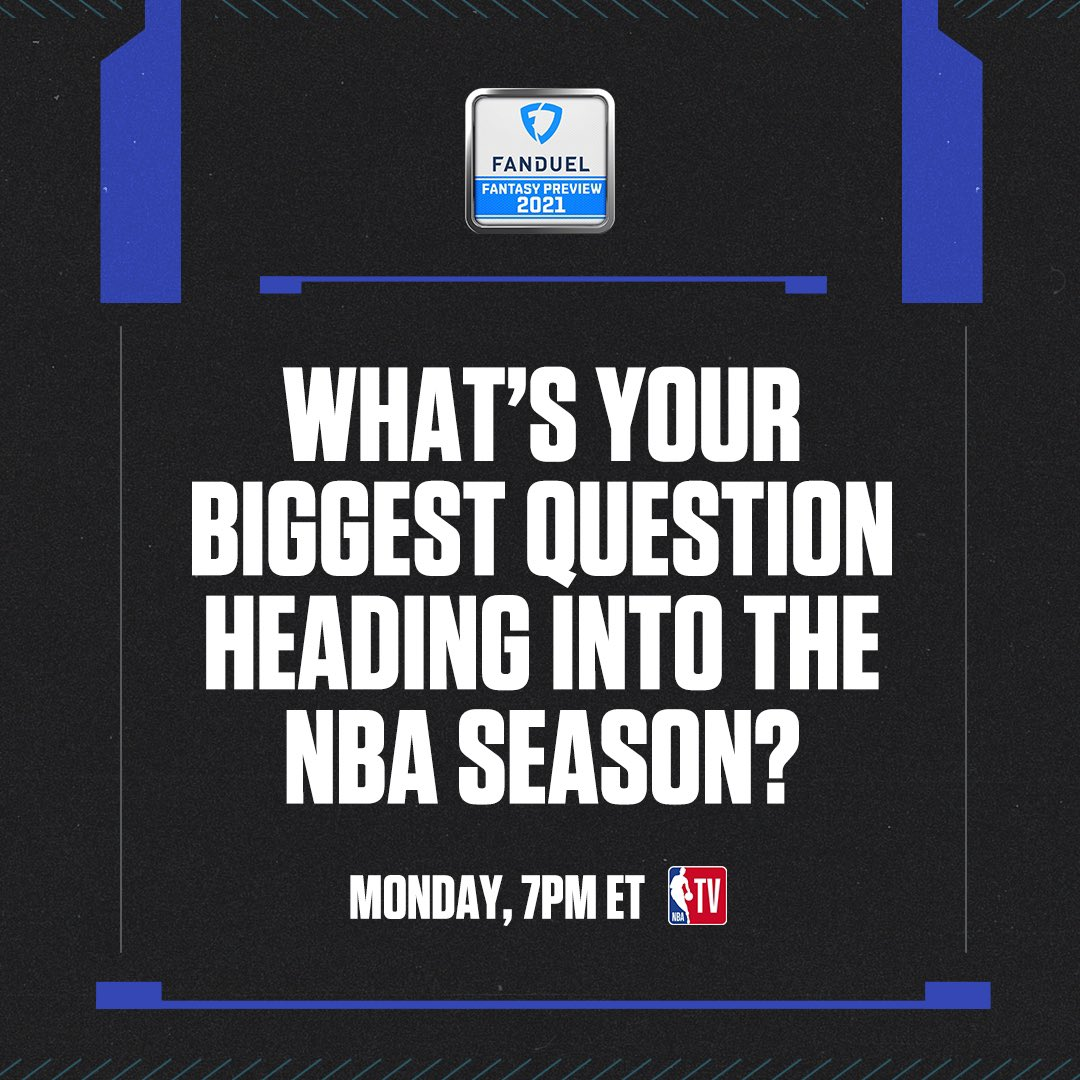 What's your biggest question heading into the NBA season? The @FanDuel Fantasy Preview show returns Monday 🔥