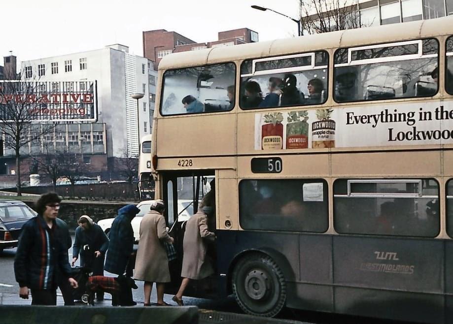 Bull Ring, Birmingham, December 1976 © David Rostance
