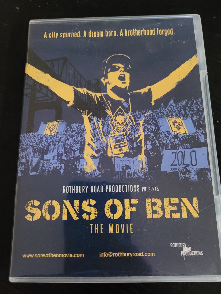 Finally going through my DVD boxes after moving in. (2 years, 😶) Look what I found! Going to need to watch after the match! @SonsofBen @PhilaUnion