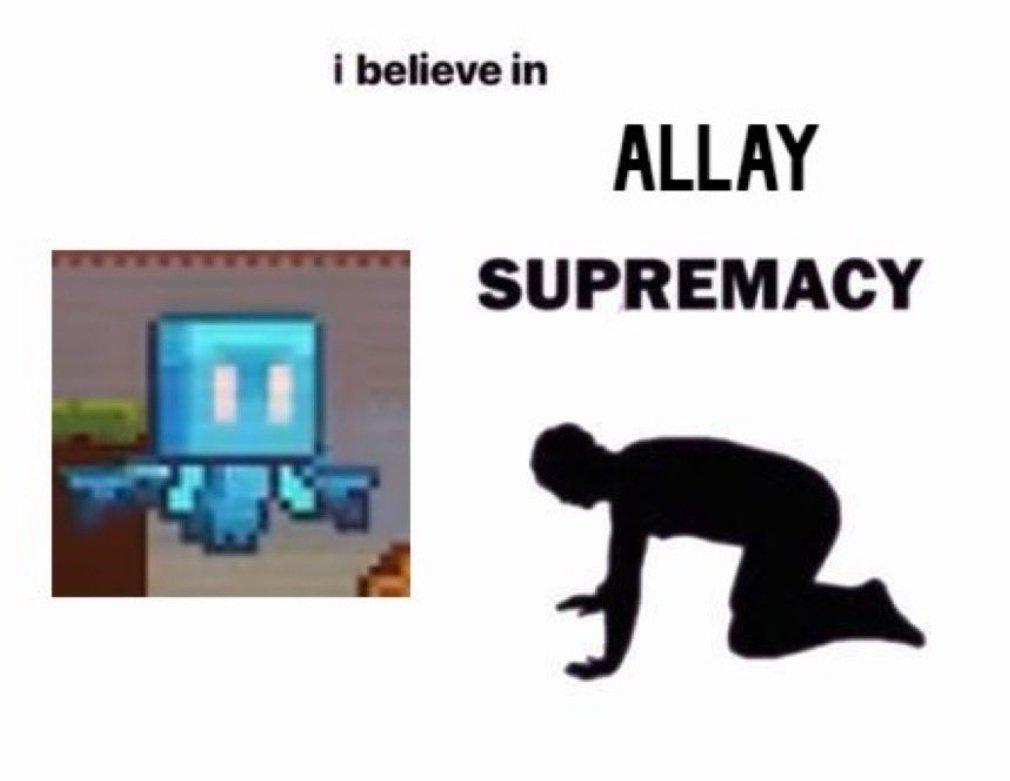 Allay supremacy 🥳 https://t.co/DExl4jdx41