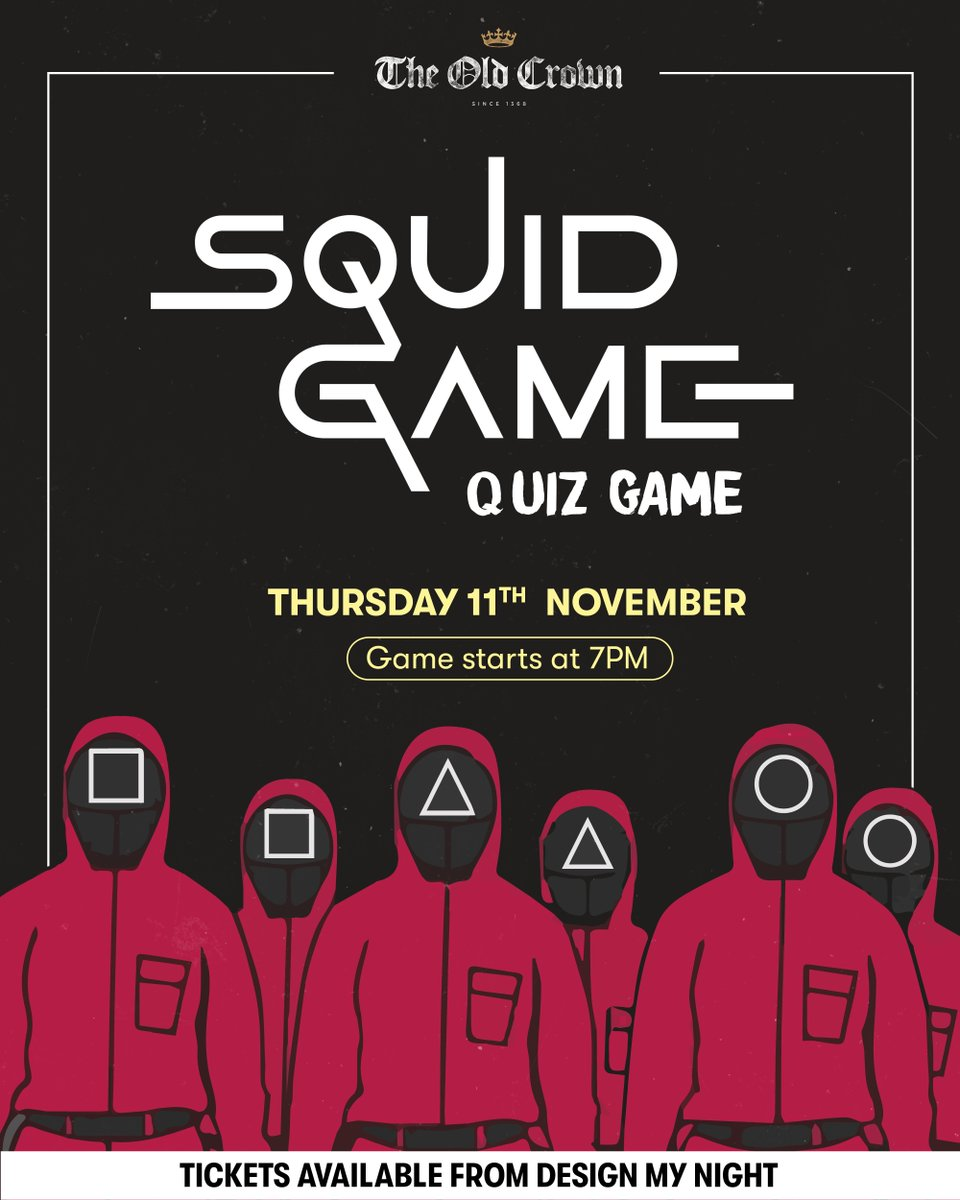 Would you like to play a game with me? ✖️✖️ The SQUID GAME is coming to Digbeth on Thursday 11th November and we're looking for players! 👀 This isn't just questions and answers! Expect to be challenged on Squid Game style activities 🔴 Book now at bit.ly/squidgameoc