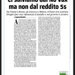 Image for the Tweet beginning: Draghi è duro con i