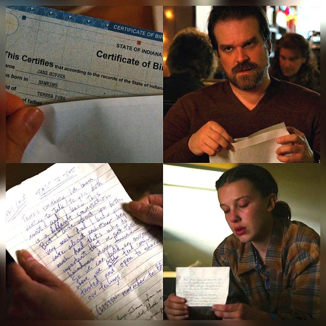 Season 2 ended with Jim receiving El's birth certificate. Season 3 ended with El receiving her dad's 'Final' words. Season 4. ❓🤔📺