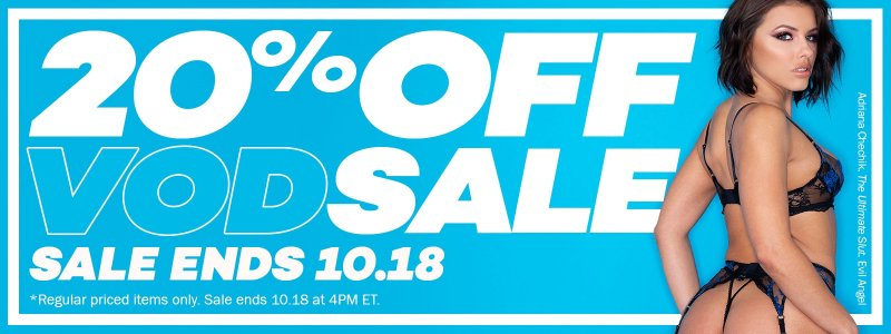 Want to take a hot piece to bed? 20% off VODs all weekend. 💦 💦 bit.ly/2QEfZ6P
