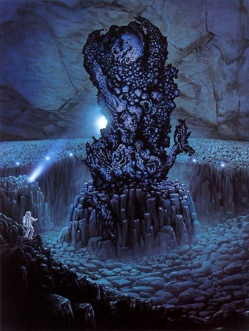 🐙They worshipped the Great Old Ones who lived ages before there were any men & who came to the young world out of the sky. Those Old Ones were gone now-inside the earth & under the sea-but their dead bodies had told their secrets in dreams to the 1st men🎨jim burns🐙#HPLovecraft