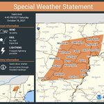 Image for the Tweet beginning: A special weather statement has