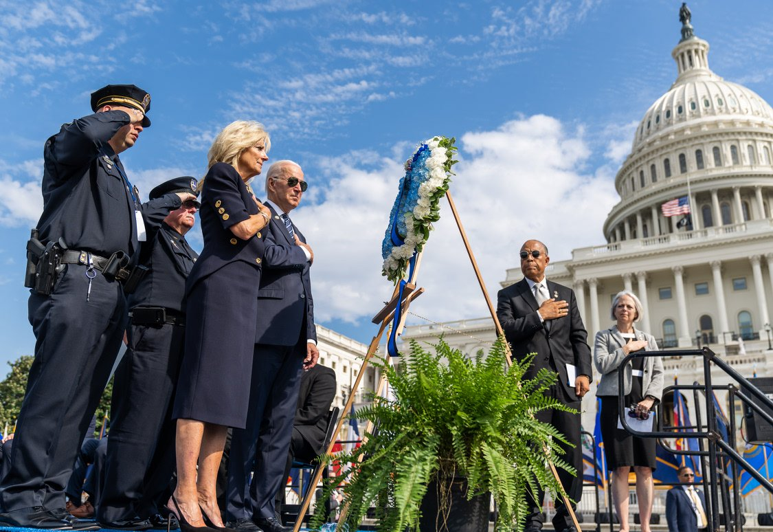 To everyone at today's National Peace Officers' Memorial Service: Your loss is our nation's loss. Your pain is our nation's pain. May the souls of those you love — and those with whom you have served — rest in peace and rise in glory.
