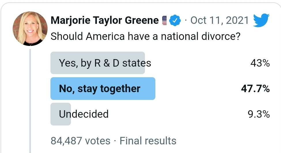 Here is how the robots respond to the idea of secession. They think it automatically leads to violence, because as usual they know nothing except what they're told by people on TV. I can name you a dozen places off the top of my head where it didn't.