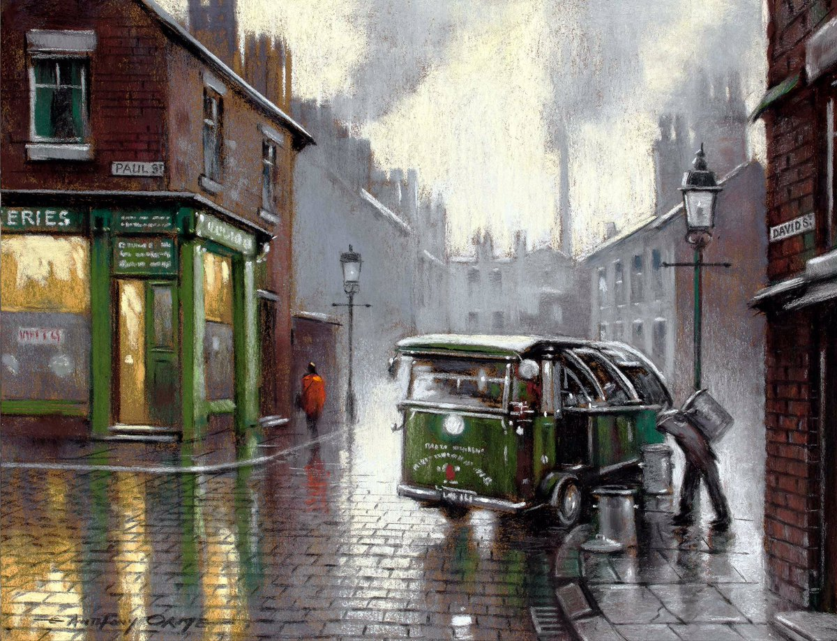 Bin Day by Anthony Orme (b.1945)