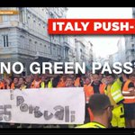 Image for the Tweet beginning: Millions across #Italy are protesting