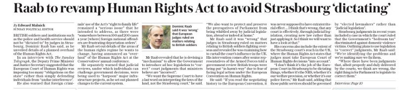 Another Sunday, another Sunday Telegraph story demonstrating the fragile state of respect for the rule of law on the part of the UK Government. The Justice Secretary's apparent plans raise three key constitutional concerns. (1)