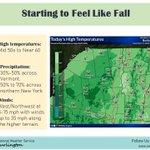 Image for the Tweet beginning: It'll finally feel like fall