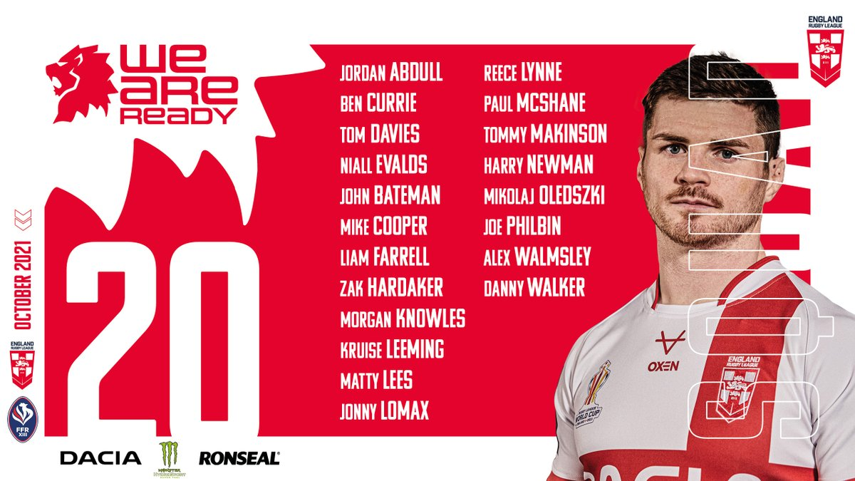 Might need to be a good day for @FFRXIII. Although @England_RL lineup doesn't seem strongest. Absent some key players.  Go hard @FFRXIII  #RugbyLeague #NRL @SuperLeague