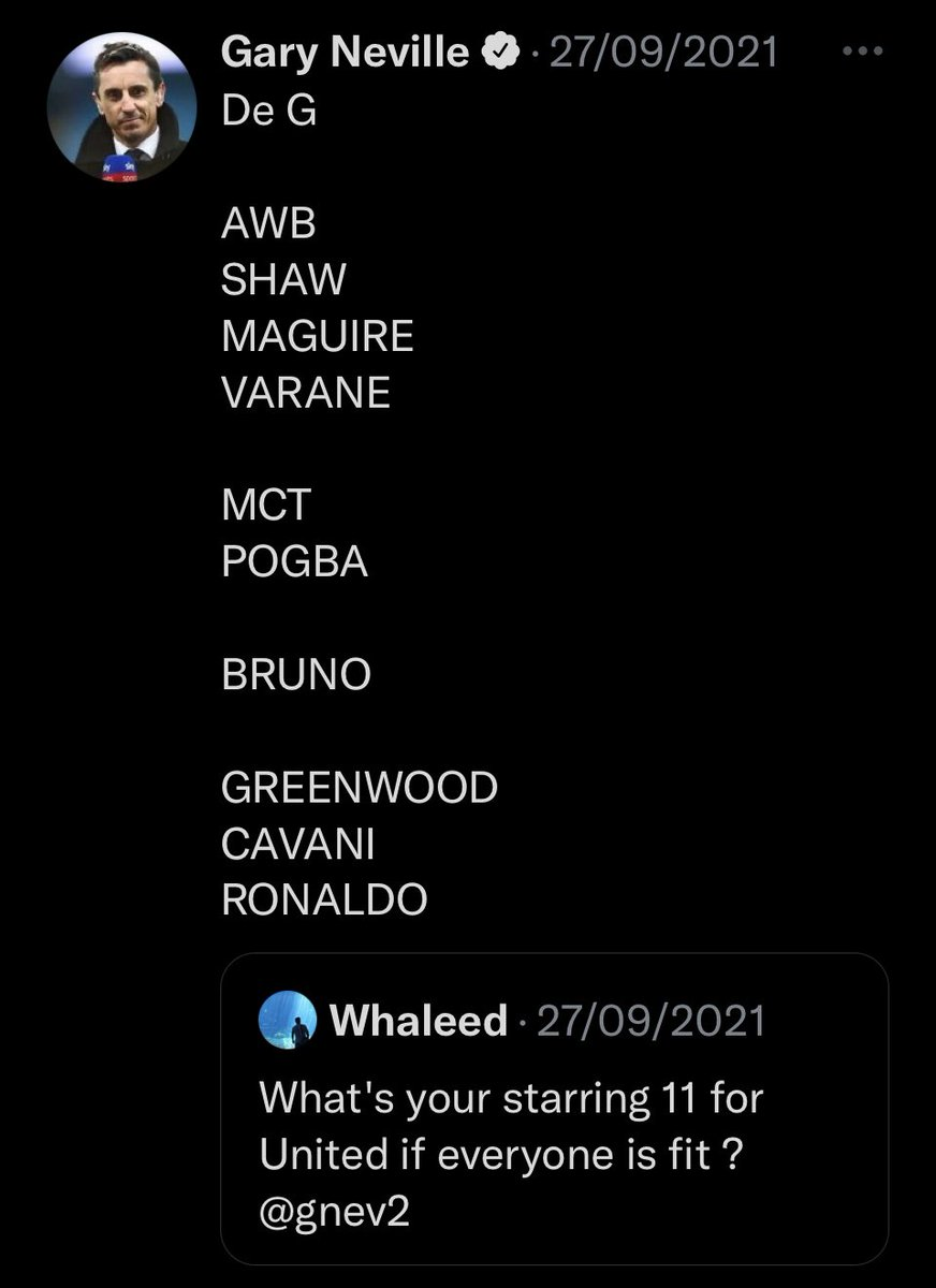 You literally picked a team with 5 attackers in 2 weeks ago @GNev2 all over the place the lot of you 😂😂😂