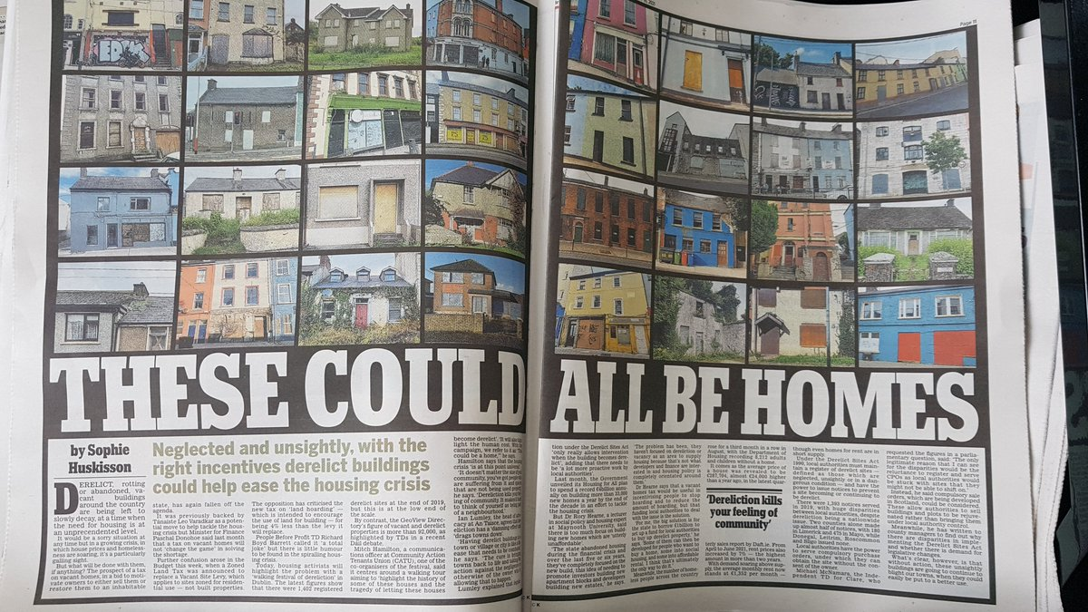 """These could all be homes: How derelict buildings could help ease housing crisis. Dr Rory Hearne:""""the big solution is for the state to borrow €1bn to set up a fund for local authorities to buy up derelict property..& developed for people to buy a home, & social hsg #HousingCrisis"""
