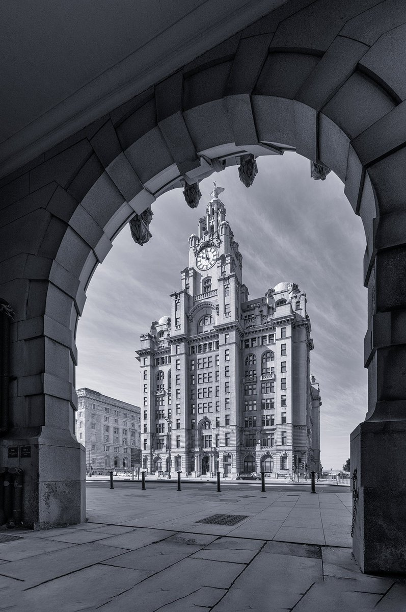 New Competition. RT and follow (if you haven't already) for a chance to win this 12 x 8 inch Royal Liver Building, #Liverpool from Under the Arches print. The draw will be on Sunday, 24th October.