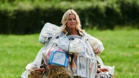 Tonight on Channel 4: Celebrity Trash Monsters. 'Kerry Katona and John Barnes must go about their daily routines for two weeks wearing only outfits made out of their rubbish.' You can't make this stuff up.