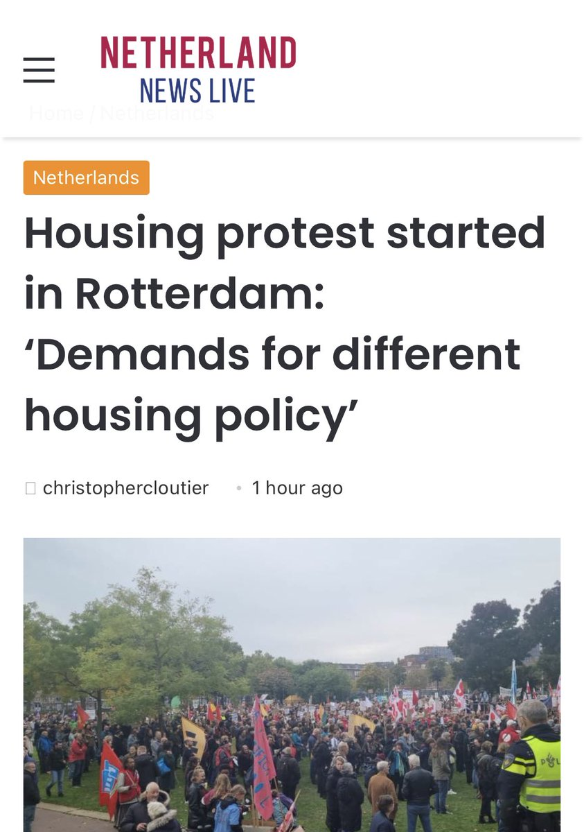 test Twitter Media - There's a global wave - now the #Netherlands! Ppl are on the streets protesting the use of housing as a financial instrument to grow wealth for the already wealthy -corporations, funds + rich indvdls. They're demanding their human right to housing! @Jandevries2005 @Make_TheShift https://t.co/lTERwPKfZR