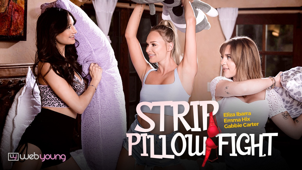 What a perfect trio! @Eliza22Ibarra @imawful69_ @EMMAHIXOFFICIAL Stream 'Strip Pillow Fight' here: adultti.me/atgirlsway