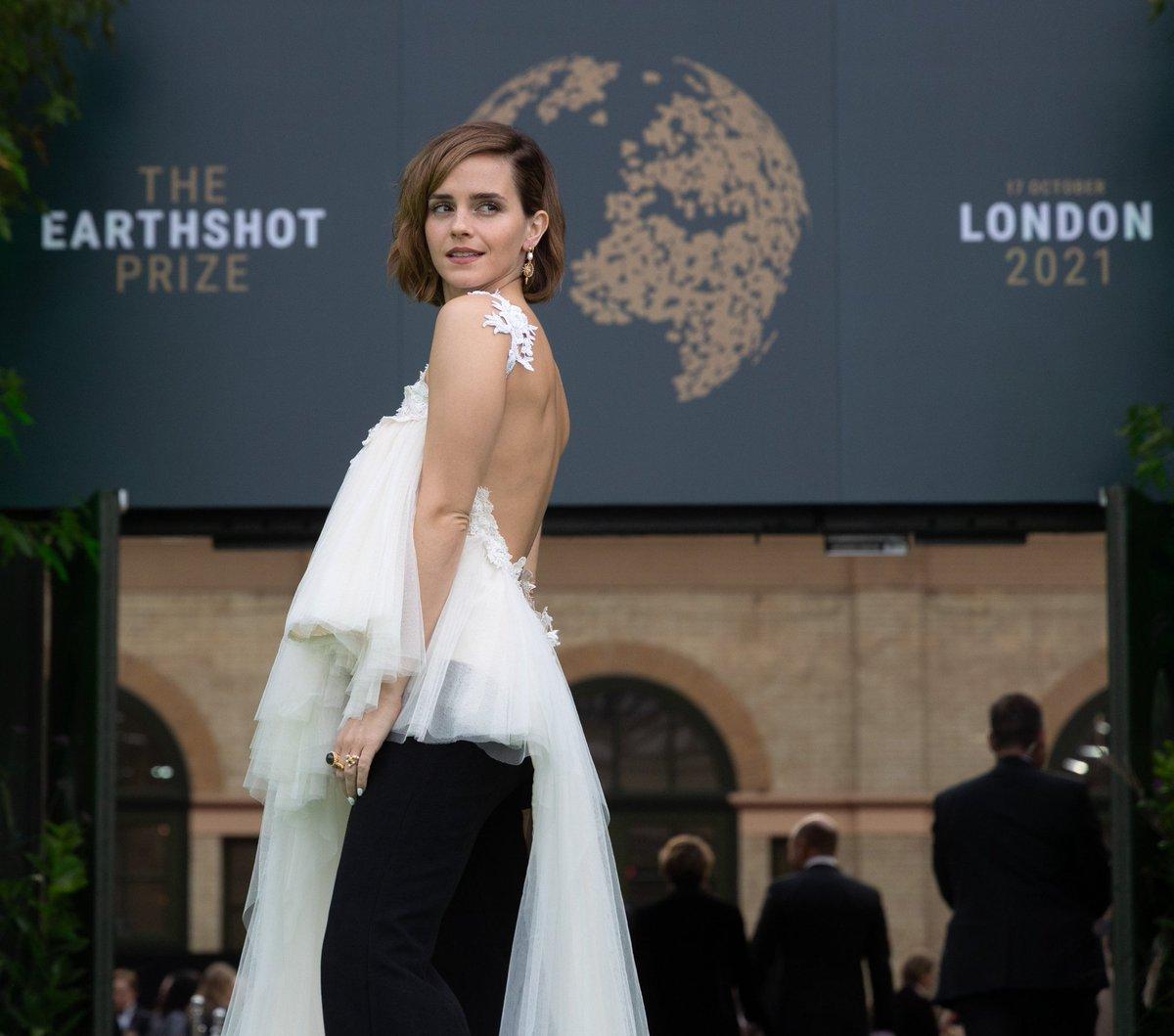 Actor and Activist Emma Watson arrives for #EarthshotLondon2021