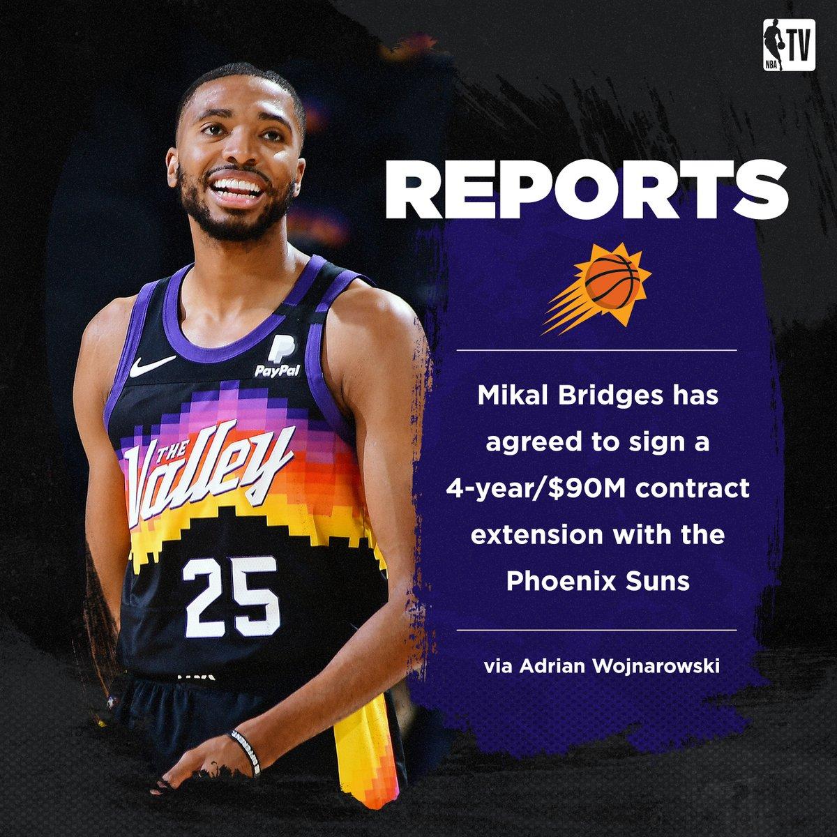 Mikal Bridges will remain in Phoenix