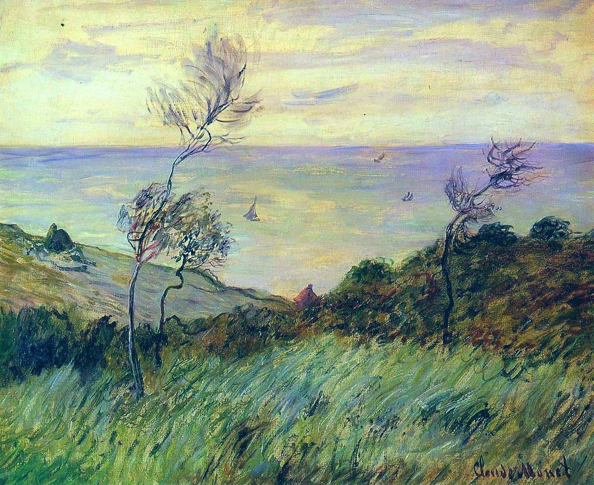 Cliffs of Varengeville, Gust of Wind, 1882 #claudemonet #impressionism
