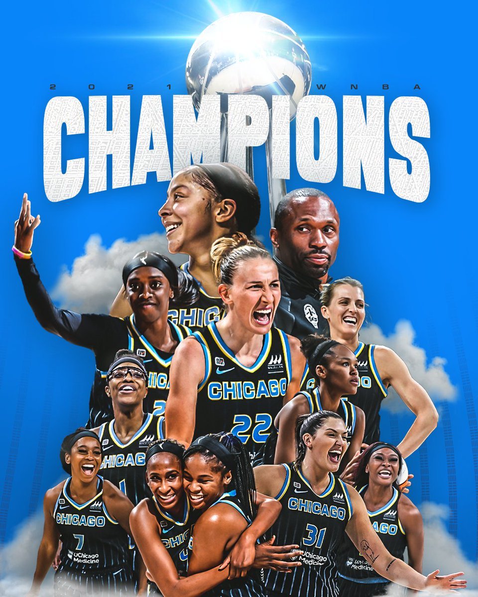 Congratsto our new WNBA champs, @ChicagoSky! I couldn't be prouder of this team — they worked hard for this moment, and have made our city proud.