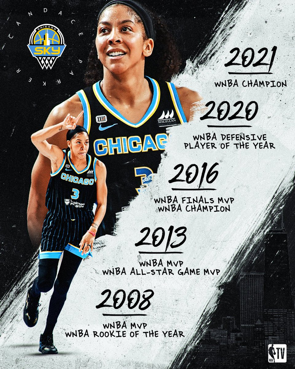 .@Candace_Parker adds another 🏆 to the case. The @chicagosky are the 2021 WNBA Champs!