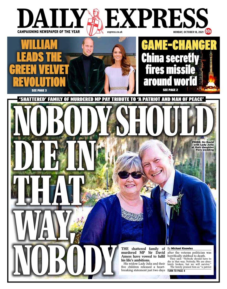 EXPRESS: Nobody should die in that way, nobody #TomorrowsPapersToday