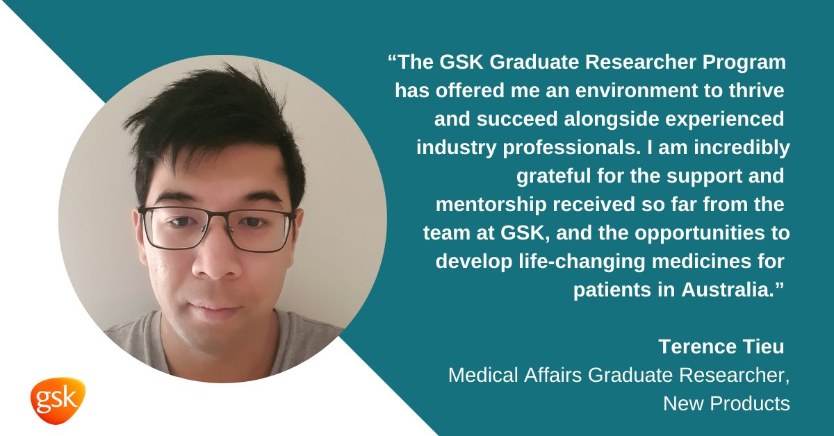 Our #GSKGradResearchers are helping to drive innovation for Australian patients. @TerenceTieu, who is part of our Medical Affairs team, reflected his time at GSK Australia and the value of the program in his transition from academia to industry. #GSKGrad21 #REDI @MTPConnect_AUS https://t.co/PbuNUiYjxG