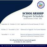 Image for the Tweet beginning: Scholarship Program Schedule for Second