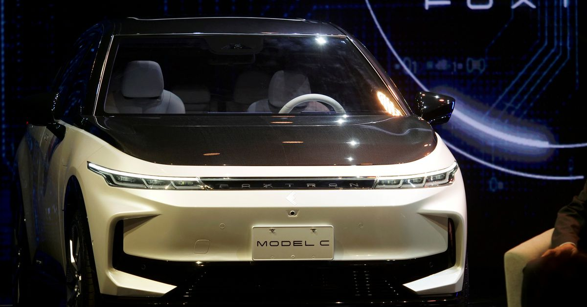 Taiwan's Foxconn shows off three electric vehicle prototypes