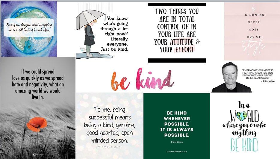 My favourite #BeKind quotes from #WorldMentalHealthDay 10/10/21