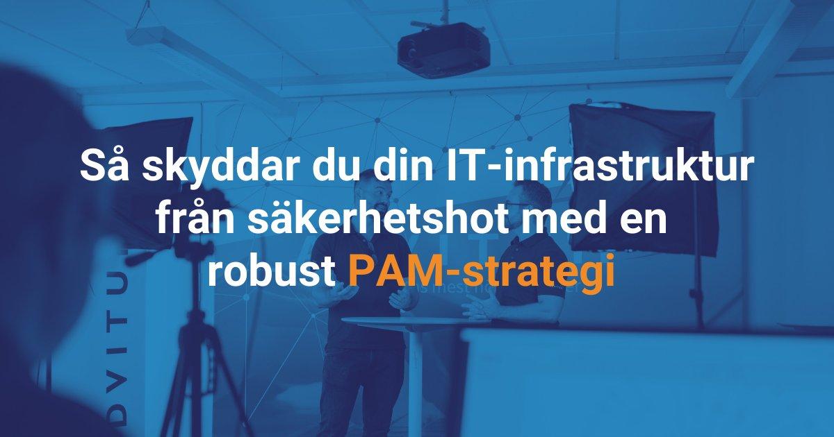 Vi deltar på Advitum Live den 22 oktober: Så skyddar du din IT-infrastruktur från säkerhetshot med en robust PAM-strategi. https://t.co/Eaxw4VEjfa #privilegedaccessmanagement #pam #itsäkerhet https://t.co/iQoijLz5i1