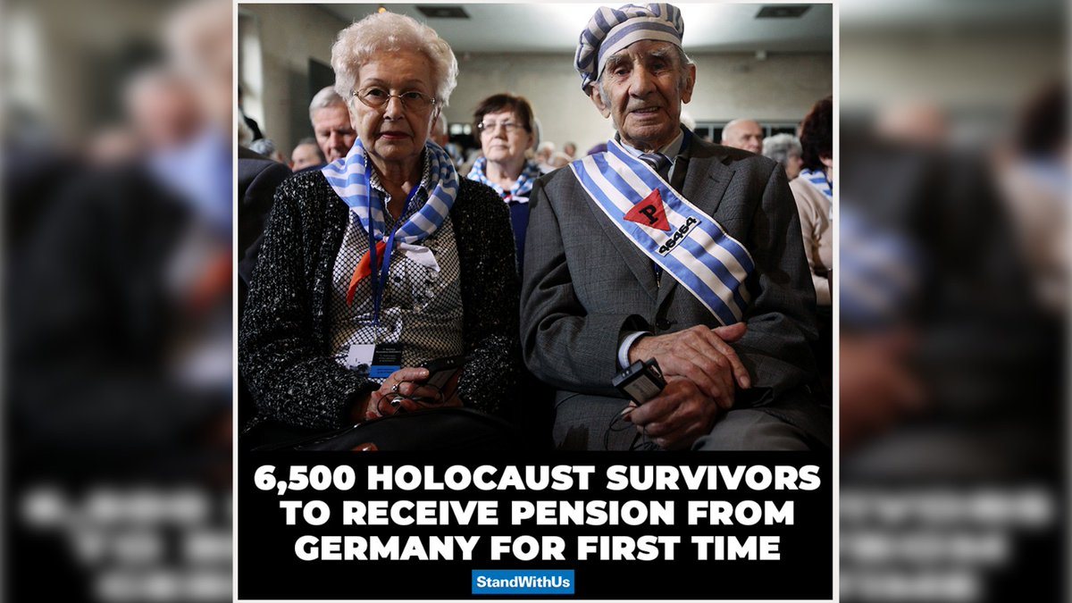The Claims Conference announced that 6,500 Holocaust survivors living in several countries will receive their first pensions from Germany. It includes those who hid or fled the Nazis in France, Russia, and Romania. An important step towards justice!