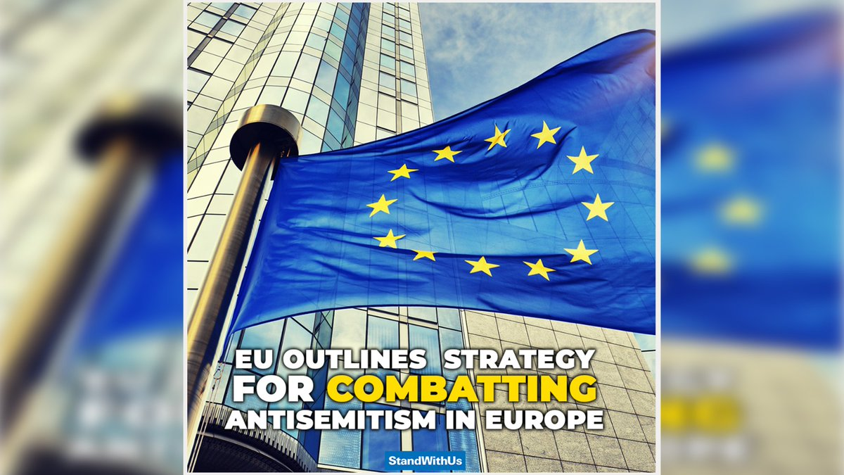 Good news in the fight against antisemitism in Europe: The EU Commission has put together the first-ever comprehensive plan to combat rising antisemitism and foster Jewish life on the continent. Thank you for standing up to antisemitism and hate! 🇪🇺👏🏻