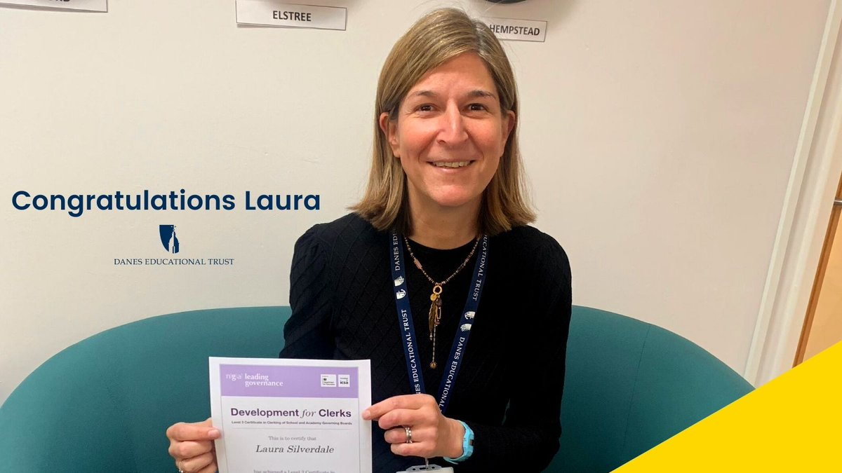 Congratulations to the Clerk to our Trust Board Laura Silverdale, who has completed her @NGAMedia Level 3 certificate in Clerking of School and Academy Governing Boards https://t.co/s72uDJ91vZ