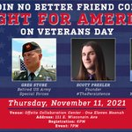 Image for the Tweet beginning: 🇺🇸 VETERANS DAY EVENT 🇺🇸  We