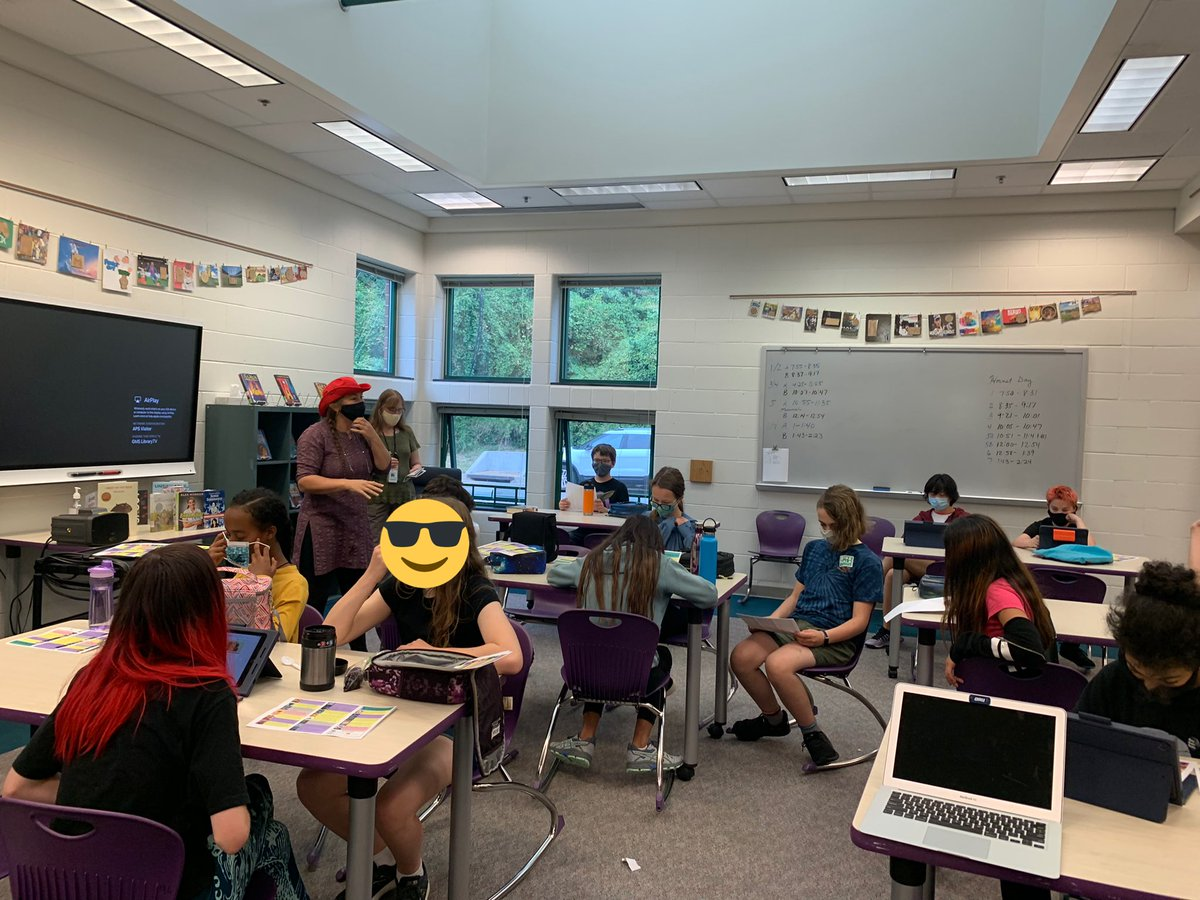 We love our TAB book groups for 6th, 7th and 8th graders! Students had lunch in the library today and we talked about books! Thank you <a target='_blank' href='http://twitter.com/ArlingtonVALib'>@ArlingtonVALib</a> for being such amazing partners. <a target='_blank' href='http://twitter.com/APSLibrarians'>@APSLibrarians</a> <a target='_blank' href='http://twitter.com/APSGunston'>@APSGunston</a> <a target='_blank' href='http://twitter.com/spnramirez'>@spnramirez</a> <a target='_blank' href='http://twitter.com/SenorBurnett'>@SenorBurnett</a> <a target='_blank' href='http://twitter.com/khethiwe_hudson'>@khethiwe_hudson</a> <a target='_blank' href='https://t.co/6VVoqS3L4u'>https://t.co/6VVoqS3L4u</a>