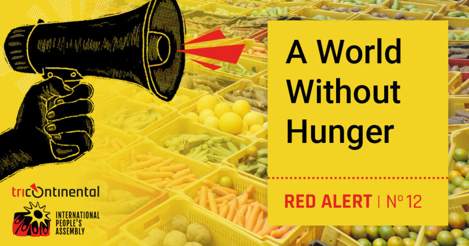 Coming up tomorrow from @tri_continental & @peoplesassembl_ - a Red Alert on food sovereignty to sharpen our thinking for the @UN World Food Day on October 16. Follow both social media handles and bookmark both webpages - thetricontinental.org and ipa-aip.org.