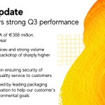 Image for the Tweet beginning: We have announced our Q3