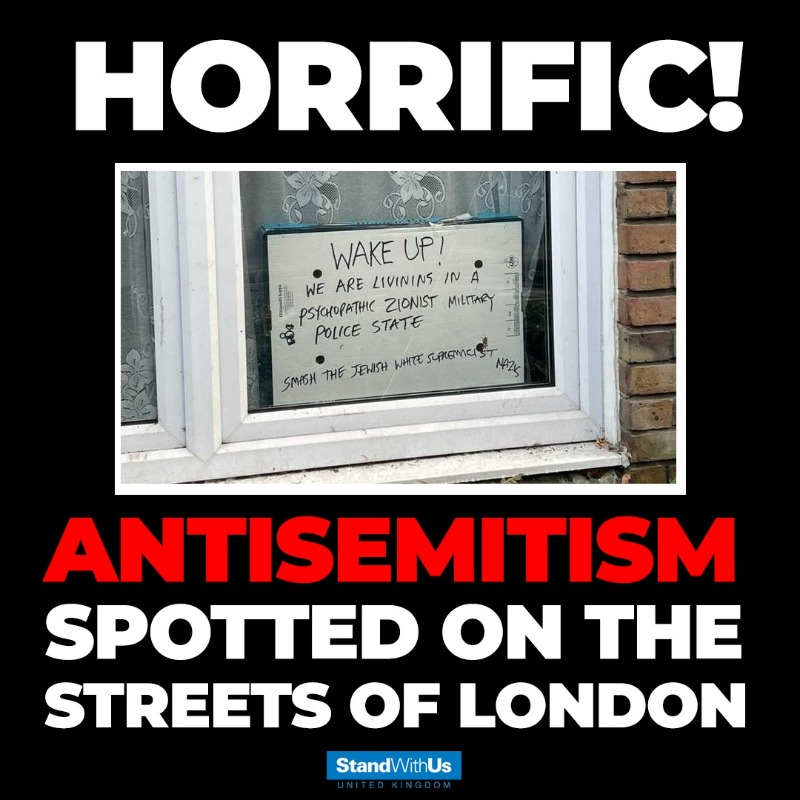 Once again Antisemitism is rearing its ugly head. Antisemites are no longer ashamed to show their hate out in the open. This is unacceptable! Such vile hatred has no place in 2021.